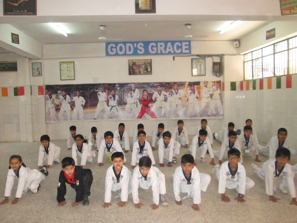Taekwondo practice session at GGS